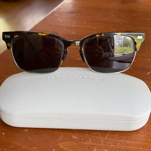 Never worn Warby Parker sunglasses with hard case